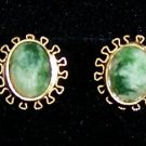 Emerald Earrings on Gold Filled Setting