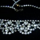 "Vintage Rhinestone 14 1/4"" Necklace Set Stones"
