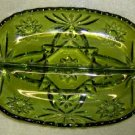 Early American Pressed Cut, Glass, Divided Relish Dish