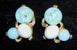 Glass Bead Earrings Clip-on's
