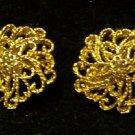 "Monet 1"" Vintage Earrings Clip-on's"