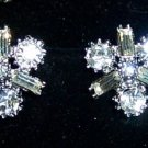 Vintage Rhinestone Screw-back Earrings. 5/8""