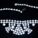 "Vintage Set Rhinestones 14"" Necklace"