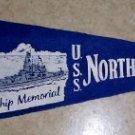 Vintage Felt Pennant,  U.S.S. North Carolina  Battleship Mem.