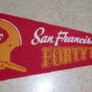 1960's San Francisco Forty Niners Vintage Felt Pennant