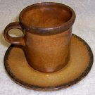 McCoy Pottery Canyon  Cup and Saucer  cir. 1977