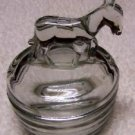 Donkey Covered Glass Powder Jar