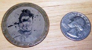 Round Tin Type Pocket Portrait