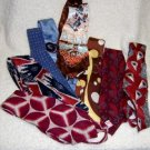 Necktie Sold as a Lot of Eight