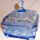 Tiara Ice Blue Covered Honey Dish