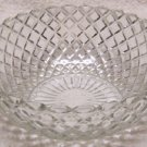 "Waterford Waffle 8 1/4"" Berry Bowl  Depression Clear"