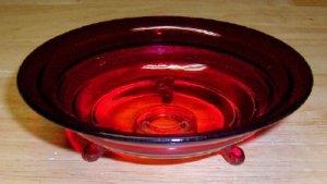Amberina Tri-footed Mint Dish