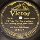 I'll Take You Back To Italy  78 RPM Record   Victor