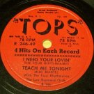 Tops Four Hits 78 RPM Record