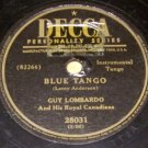 Blue Tango  78 RPM Record on DECCA Label