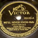 We'll Never Know  78 RPM on Victor