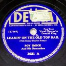 Leanin' On The Old Top Rail  78 RPM on Decca