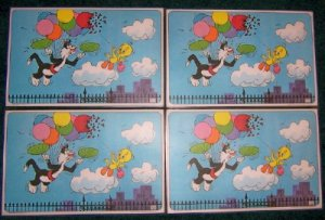 1976 Pepsi Collector Cartoon Placemats  Set of four