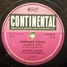 Vegetable Polka  Edward Jasinski on Continental Label 78 RPM