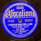 I Poured My Heart Into A Song, Jan Garber 78 RPM Vocalion