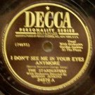 """I Don't See Me In Your Eyes Anymore 78 RPM 10"""" record"""