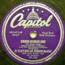 """Bibbidi-Bobbidi-Boo  78 RPM on 10"""" Capitol Record"""