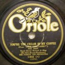 Your The Cream In My Coffee 78 RPM on Oriole 10""