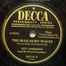 "The Blue Skirt Waltz 78 RPM on Decca 10"" Record"