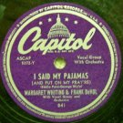I Said My Pajamas 78 RPM on Capitol