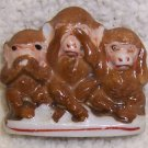 Occupied Japan Three Monkey's  Figurine