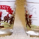 Vintage U.S. Army WWII Patriotic Shot Glass Set of Two  1 oz.