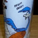 Vintage Cir. 1976 Roadrunner and Coyote Pepsi Collector Glass