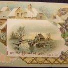 Victorian Postcard - Unused, I Am The Bread of Life