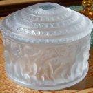Vintage Lalique Dresser or Powder Jar - Cherubs