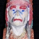 Indian Chief Carnival Chalkware