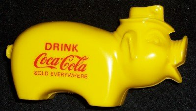 Coca-Cola Plastic Pig Bank