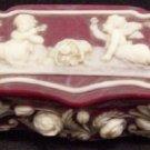 Incolay Stone Trinket/Jewelry Box