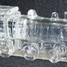 Train Locomotive Glass Candy Container