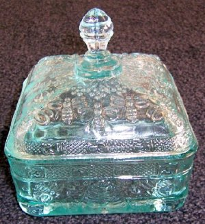 Covered Honey Server by Tiara Teal Color