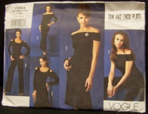 Vogue Sewing Pattern V2882 Designer Tom & Linda Plati