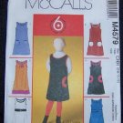 McCall's Sewing Pattern M4579  Girls/Girls Plus Jumpers