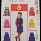 McCall's 6 looks 1 Pattern M4552 Sewing Pattern Girls Jumper