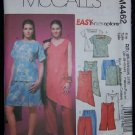 McCall's M4462 Sewing Pattern Womens/Womens Petite Top,Tunic,Scort & Capris