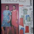 McCall's M4462 Sewing Pattern Womens/Womens Petite Top,Tunic,Scort & Capris