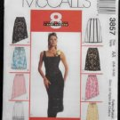 McCall's 3857 Sewing Pattern Misses Lined & Unlined Skirts