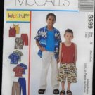 mcCall's 3599 Sewing Pattern Boy's Shirt,Tank top, Pull on Pants & Shorts