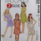 McCall's Sewing Pattern M4438 Girls/Girls Plus Dresses