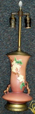 Roseville Pottery Apple Blossom Table Lamp