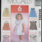 McCall's M4353 Sewing Pattern Toddlers' Dresses & Bonus