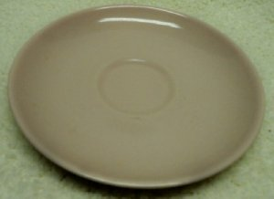 Casual Pink Saucer, Iroquos Casual China by Russell Wright